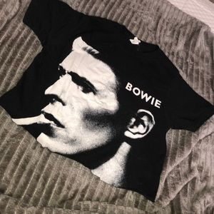 Cropped Bowie Tee